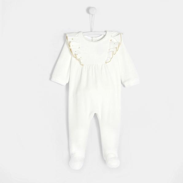 photographe-naissance-paris-pyjama-blanc-or-noel-bebe