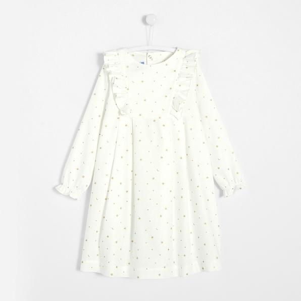 photographe-naissance-paris-pyjama-blanc-or--noel-fille