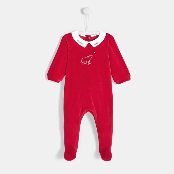 photographe-naissance-paris-pyjama-rouge-noel-bebe